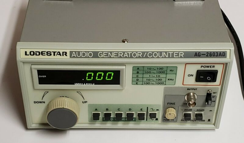 LODESTAR AUDIO GENERATOR/COUNTER AG-2603AD