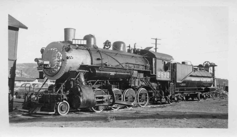 7F089 RP 1940s SOUTHERN PACIFIC RAILROAD ENGINE #2832 TIBURON CA