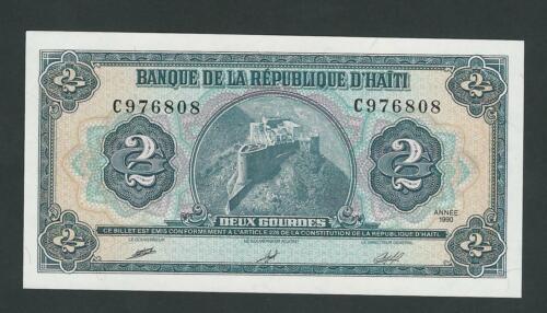 HAITI  2 GOURDES 1990  P- 254  UNC