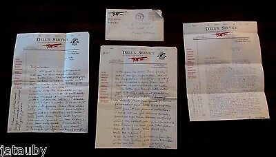 Vintage 1939 1940 Letters 1937 E Airplane Service Tyler Providence Walden  Idaho