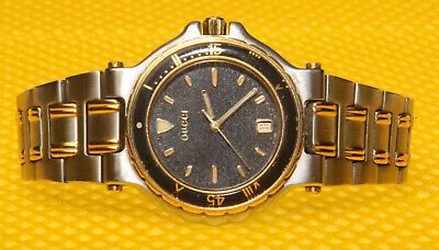 "Men's Vintage GUCCI ""9700M"" Quartz Watch SWISS MADE 100M <VERY GOOD USED>"