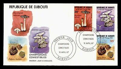 DR WHO 1987 DJIBOUTI FDC EDIBLE MUSHROOMS  C243306