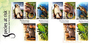 2009-Species-At-Risk-Australian-Joint-Territories-Issue-FDC-2-Sets-of-Stamps