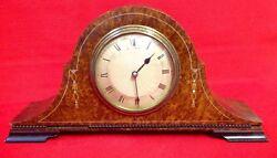 Antique Russells Liverpool, Amboyna Veneered Wind Up Clock, Napoleon Hat, Inlaid