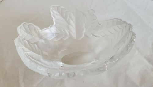 VNTG Lalique France Crystal Compiègne Bowl Vase Signed (W56)