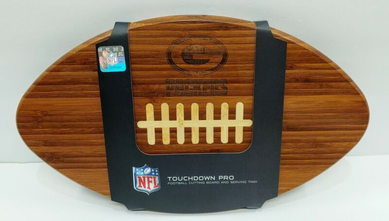 Green Bay Packers Wooden Cutting Board NFL Touchdown Pro Football Serving Tray