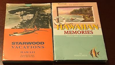Hawaiian Memories Postcard Collection Westin Starwood 30 Cards Sealed Tiki Bar