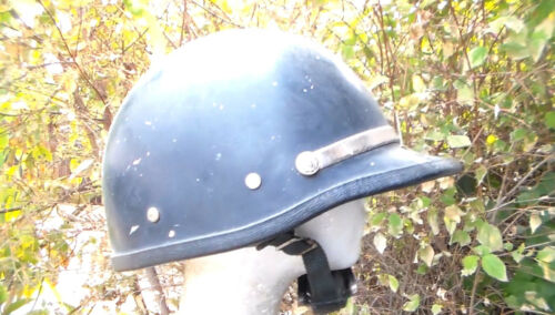 Old Vintage Obsolete 1960s Police Motorcycle Riot Gear Helmet in Used Condition