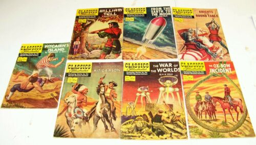 Vintage Classics Illustrated #101, 105, 108, 109, 112, 124, 125 Science Fiction