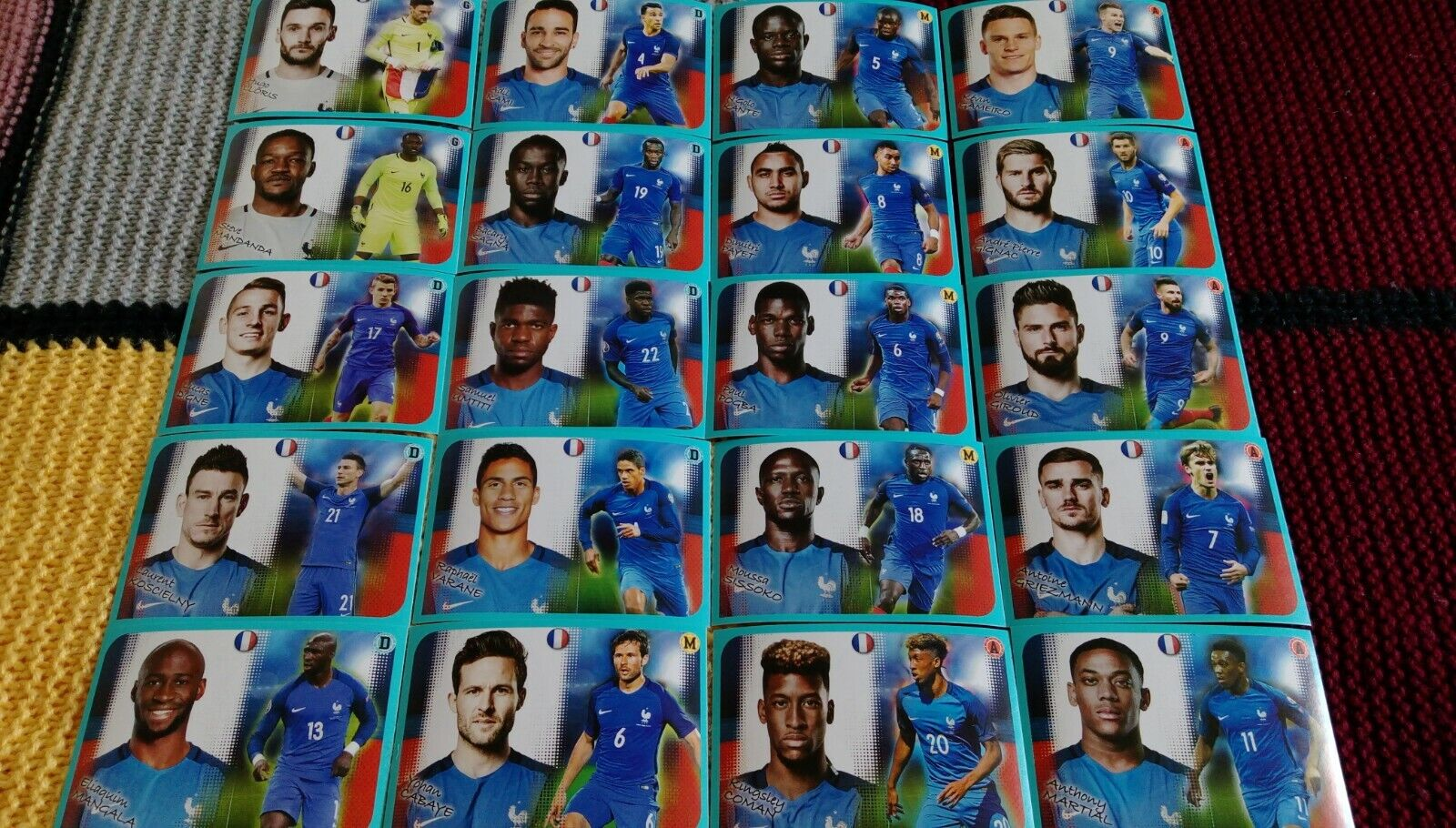 Panini foot 2016-17 set complet poster p1 - p20 equipe france team