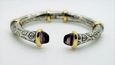 B342 Urbanity Designer Style Black Diamond color Open Cuff Fashion Bracelet (Black Diamond Fashion Bracelet)