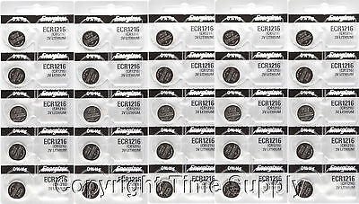 25 Pc 1216 Energizer Watch Batteries Cr1216 Cr 1216 Lithi...