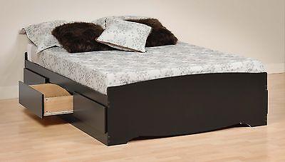 Sonoma Double/Full Storage Platform Mates Bed w/ 6 Drawers - Black NEW