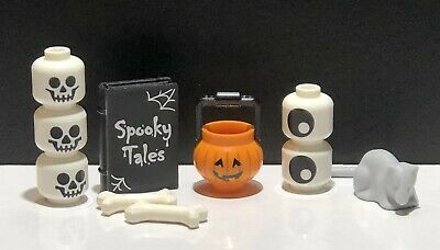 LEGO Skeletons Pumpkin Spooky Tails Book minifigure Halloween Accessories Lot