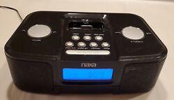 NAXA Alarm Clock Radio Docking Station Music System for Ipod & iPhonet Black