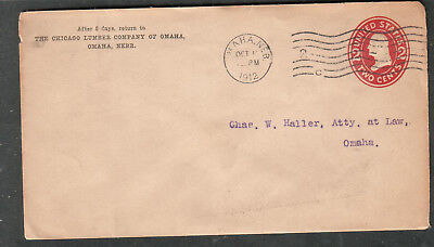 1912 cover The Chicago Lumber Company of Omaha NE to Charles W Haller in-city](Party City Omaha)