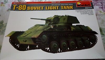 1:35 MiniArt T-80 Soviet Light Tank Spezial Edition gebraucht kaufen  Asbach-Bäumenheim