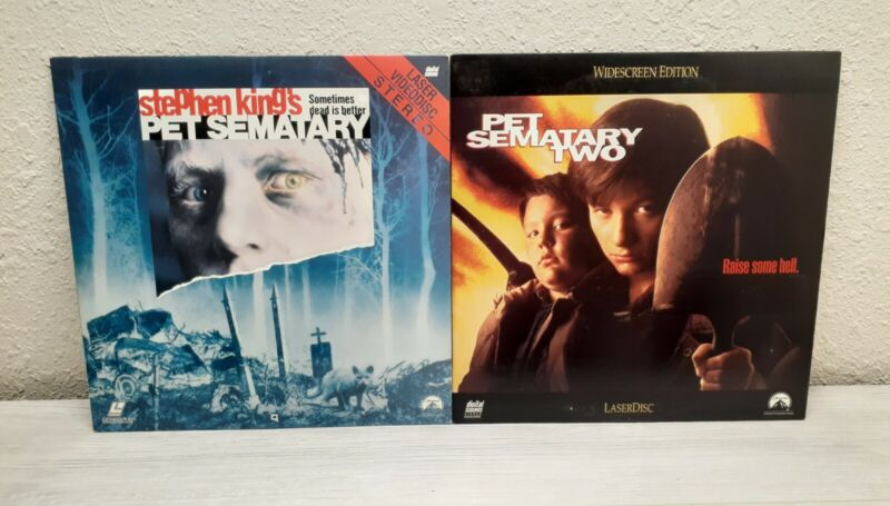 Stephen King's Pet Sematary Lot Parts 1 & 2 Laserdisc - TESTED
