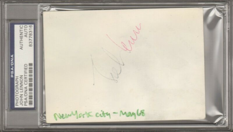 Beatles JOHN LENNON & PAUL McCARTNEY Signed Candid Photos Slabbed PSA/DNA & JSA