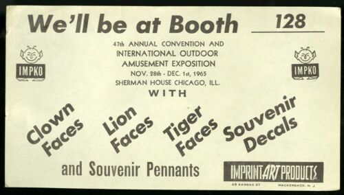 Vintage Circus Ephemera 47th ANNUAL (CIRCUS) INT