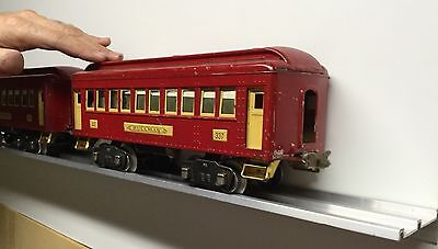 STANDARD GAUGE DISPLAY SHELVES / Aluminum /  Train Shelf SET OF 2 / Lionel