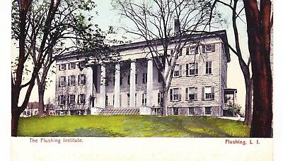 FLUSHING INSTITUTE, EAST SIDE OF MAIN ST. AT ROOSEVELT AVE QUEENS, LONG ISL, (Roosevelt Ave Flushing)