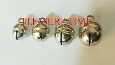 Falconry Lahori Bells, Nickle Plated Bells Pair High Tone Best For Dogs & Cats