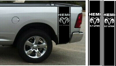 Dodge Ram 1500 2500 350 Hemi Rear Truck Bed Decal Racing Vinyl Stripes Sticker#1