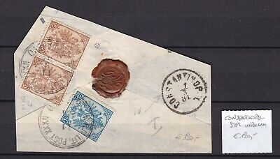Bosnia Herzeg - 1881 -Michel 5I + 6I pair  - SERAJEVO/Constantinopol -  120 Euro