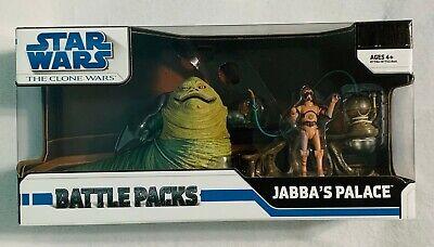 JABBA'S PALACE Star Wars 2008 Clone Wars Battle Packs NEW Jabba The Hutt & TC-70