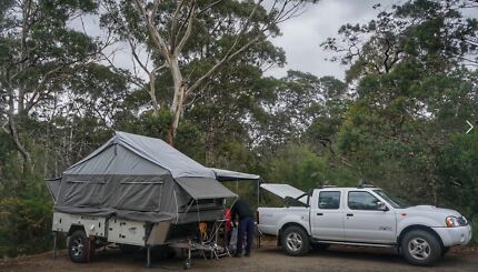 Blue tongue Overland XF camper  trailer Forward fold Engadine Sutherland Area Preview