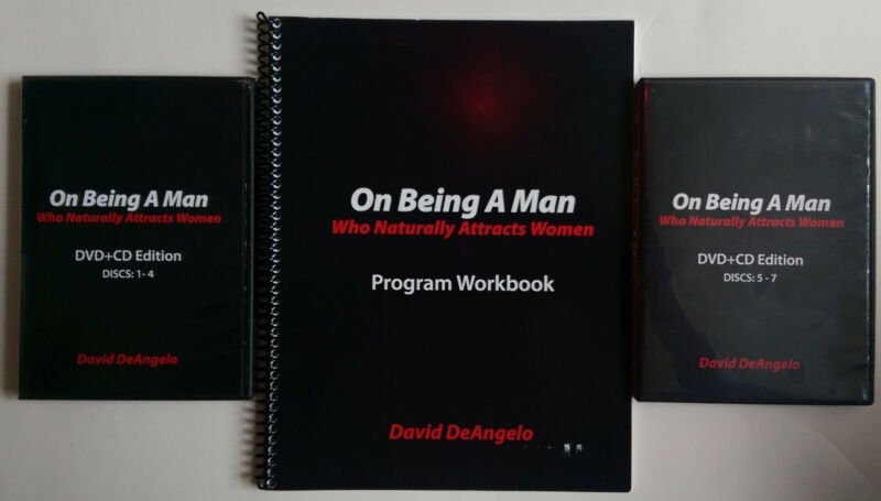 ON BEING A MAN WHO NATURALLY ATTRACTS WOMEN  David DeAngelo  DVDs +CDs +WORKBOOK