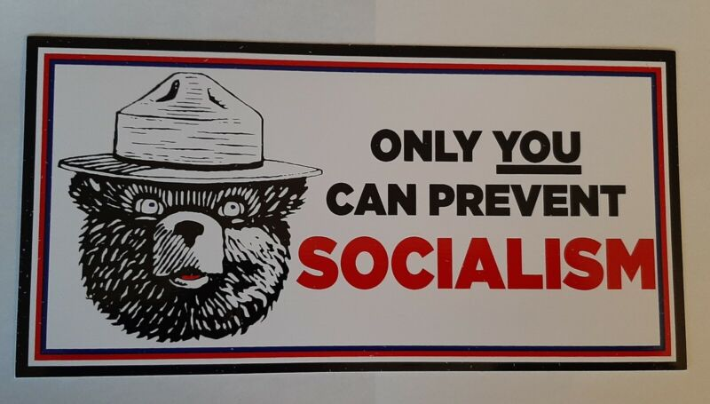 ONLY YOU CAN PREVENT SOCIALISM BUMPER STICKER