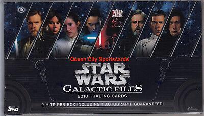 2018 Topps Star Wars Galactic Files Factory Sealed Hobby Box