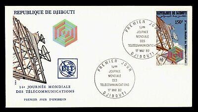 DR WHO 1982 DJIBOUTI FDC ITU WORLD TELECOMMUNICATIONS DAY CACHET  g18449