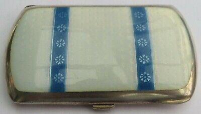 LOVELY ANTIQUE GERMAN SILVER & GUILLOCHE ENAMEL CIGARETTE CASE