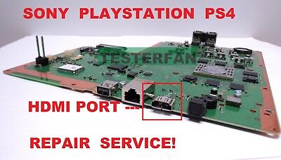 Fix Broken Sony PlayStation 4 PS4 System Motherboard HDMI Port Repair Service!
