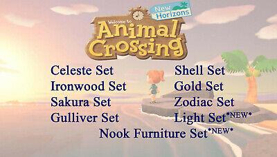 Animal Crossing New Horizons Furniture Celeste Zodiac Gold Ironwood Sakura Sets