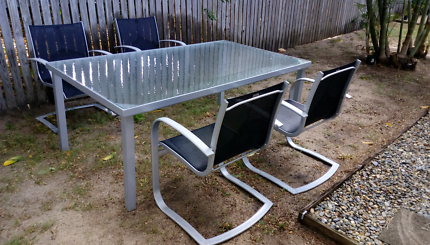 Outdoor Dining Table With 4 Chairs 1830L X 1070W 700H