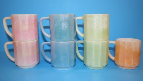 Vintage FEDERAL Panel Mugs - Set of 7