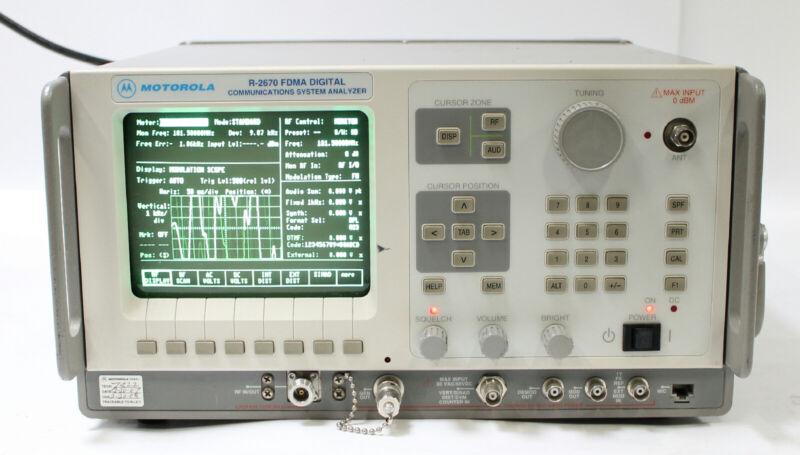 Motorola /GE R2670A FDMA Digital Communications Analyzer with Tracking Generator