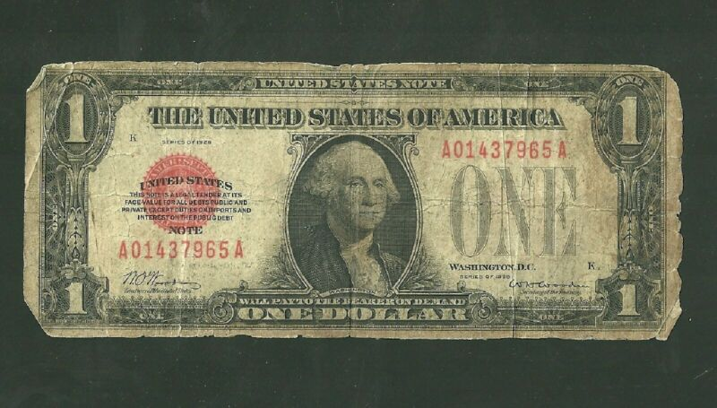 Series 1928 United States Note 1 Dollar Currency Note FR #1500 Paper Money