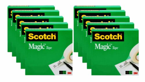 BEST DEAL Scotch Magic Invisible Tape Refill 10 Pack 3/4 in x 800 in FREESHIP