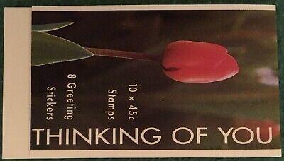 Filatelia Australia Libretto Thinking of you 10x45c + 8 Greeting Stickers