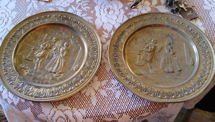 Two Brass decorative plates