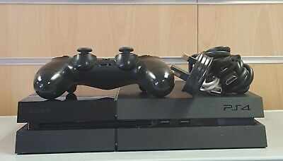 (SO4) Sony Playstation 4 500GB, with Controller & Leads Unboxed