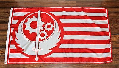 California Republic Fallout Flag Banner Brotherhood of Steel 3' x 5' USA Shipper