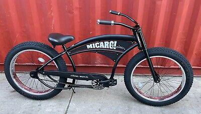 "26/"" Stretch Beach Cruiser Bicycle Bronco single spd Frame 26 x 4.0/"" tire Red"