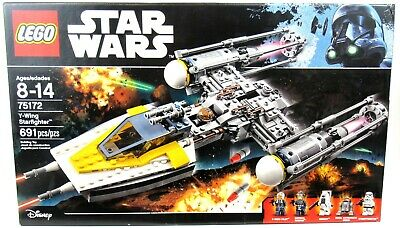 LEGO 75172 Star Wars Y-Wing Starfighter 100% Complete W/ Instructions & Box
