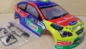 1/10 RC car 190mm on road drift rally Ford Focus Abu Dhabi Body Shell
